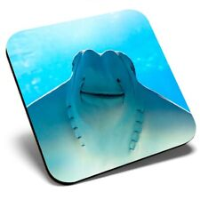 Square Single Coaster - Eagle Ray Ocean Sea Fish Fun  #2772
