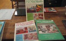 3 Mini Dressings for Mini Rooms 1 & 2 Mini Treasures Dollhouse xmas linens