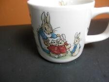 Wedgwood Of Etruria Peter Rabbit Child's Mug Cup England Beatrix Potter