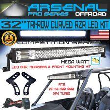 """No.1 Pro Tri-Row 32"""" Curved 7D 408W Light Bar KIT 40,800LM RZR XP1000"""