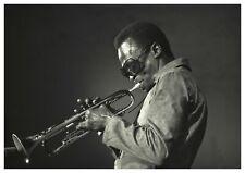"Reproduction ""Miles Davis - Black & White"" Poster, Jazz, Vintage Print, Size: A2"