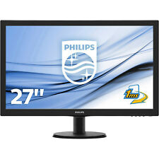 PHILIPS 273V5LHAB, Monitor mit 68.6 cm / 27 Zoll Full-HD Display, 1 ms Reaktions