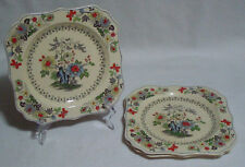 Lot of 3 Royal Doulton Kioto and The Granville Square Salad Plates Hand Painted