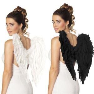 Angel Feather Wings Ladies Fairy Devil Halloween Fancy Dress Accessory