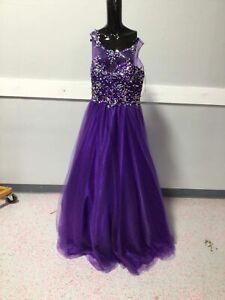 Ladies Purple Beaded Formal Dress Juliet Size XL