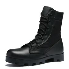 Men Flat Waterproof Outdoor Lace Up Combat Boots Ankle Shoes Military LOJK