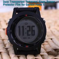 2X Tempered Glass Film Screen Protector Protective for Garmin Fenix 5 Full Cover