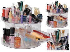 VERSATILE BEAUTY ROTATING GLAM CADDY COSMETIC ORGANIZER MAKE UP BRUSH HOLDER BOX