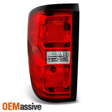 14-16 Chevy Silverado Pickup Red Clear Driver Left Side Tail Light Replacement