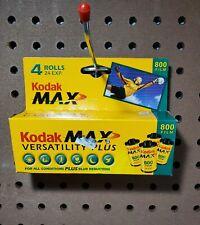 4 Rolls 1 box- Kodak Max Versatility Plus 800 Film 24-Exposure Film Expired 2004