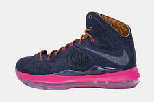 Nike LeBron 10 X EXT QS Denim size 14. 597806-400 bhm what the cork all star