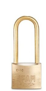 IFAM E40LS ALL BRASS LS 50mm SHACKLE ELECTRICAL SAFETY PADLOCK. 40mm  BODY. KD
