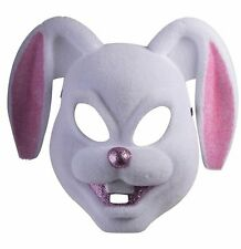White And Pink Bunny Plastic Mask Bugs Bunny Deluxe Costume Accessory