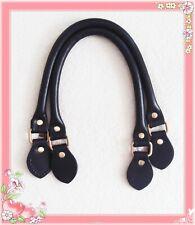 45cm hochwertige Taschengriffe Rindleder schwarz Henkel