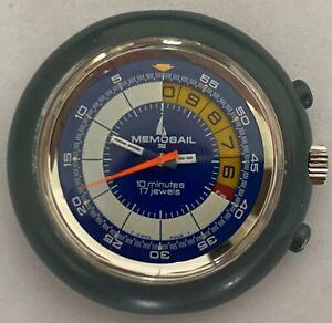 Memosail Chronograph Valjoux 7737 Armbanduhr Regatta Timer Handaufzug Vintage