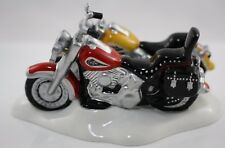 Harley Davidson Fat Boy Softail Department 56 #54900 Retired Snow Village Figure