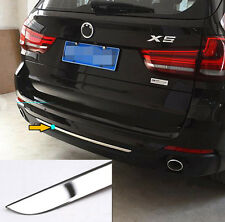 FOR 2014- BMW X5 F15 CHROME REAR BUMPER TRUNK DOOR LID COVER TRIM TAILGATE STRIP