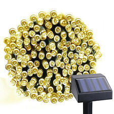 100 LED Waterproof Solar 7 Optional Colors with 8 Lighting Modes String Lights