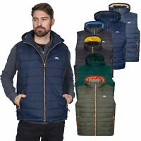 Trespass Franklyn Mens Insulated Hooded Body Warmer Gilet in Green Black & Navy