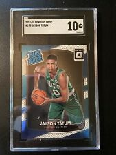 2017-18 Donruss Optic Jayson Tatum #198 RC SGC 10 Compare to PSA 10
