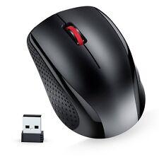Nulaxy ML11 2.4GHz Wireless Mouse W/ USB Nano Receiver Black