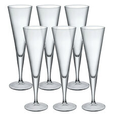 6 X Bormioli Rocco YPSILON Champagne Flutes Glassware Dinner Glasses Toast Wine