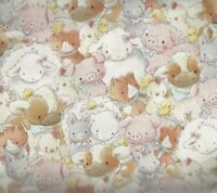 Packed  farm animals Timeless Treasures fabric