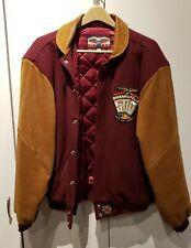 Vintage Indy 500 Leather/Wool JH Limited Edition Jacket Large Burgundy Camel