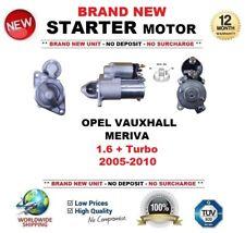 Per OPEL VAUXHALL MERIVA 1.6 + Turbo 2005-2010 Motore di Avviamento 9 DENTI Nuovo di Zecca