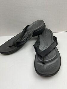 Crocs Athens Thong Flip Flop Sandal for Unisex, Size US 11