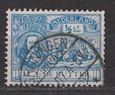 NVPH Nederland Netherlands 87 TOP CANCEL GRONINGEN 1907 de Ruyter Pays Bas