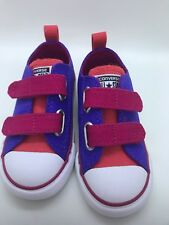Converse All Star 2V Periwinkle Berry Infant / Toddler Size 7