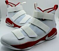NEW Nike Lebron Soldier XI TB Promo Basketball Shoe Men Sz 15.5 White Red 943155