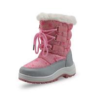 Winter Girls Mid-Calf Woolen Snow Boots Little Princess Outdoor Waterproof Boots