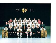 1982 CHICAGO BLACK HAWKS 8X10 TEAM PHOTO NHL HOF HOCKEY ILLINOIS