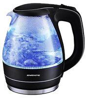 Ovente 1.5L Glass Electric Tea Coffee Kettle Cordless Hot Water Boiler Pot Black