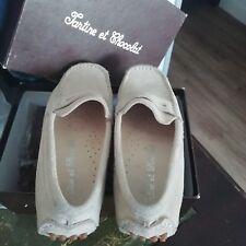 Chaussures Mocassins TARTINE ET CHOCOLAT garçon en daim beige taille 29