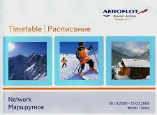 Aeroflot Timetable  October 30, 2005 =