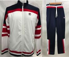 New FILA Mens Fitness Hockey Heritage Tracksuit Jacket Pants Set Blue SZL XL 2XL