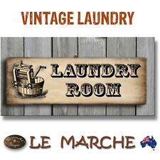 """👖 LAUNDRY Vintage """"Laundry Room"""" Wooden Rustic Plaque / Sign (FREE POST) 👖"""