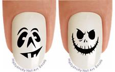 "Nail Decals #747H HALLOWEEN ""Smiley Pumpkin Face 2"" WaterSlide Nail Art Transfer"