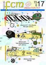 FCM Decals 1/72 ALBATROS D.III & ALBATROS D.V German Fighters Part 2