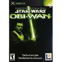 Star Wars Obi Wan XBOX Game Used