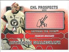 FRANCOIS BRASSARD 2012-13 ITG Between the Pipes GOALIEGRAPH AUTO #A-FB