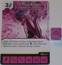 MIRI RIAM CAPABLE OF GREAT LOVE 122/142 War Of Light Dice Masters DC