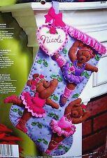 "Bucilla ""Ballet Bears"" Felt Christmas Stocking Kit NEW Dance RARE Ballerina OOP"