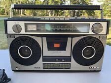 Vintage 1980s, Sanyo Boom Box, Ghetto Blaster Stereo Cassette Deck, M-9970