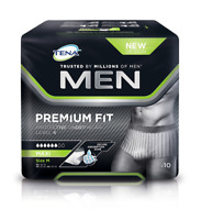 Tena Hommes Ajustement Premium Protection Sous-Vêtements Level 4 Maxi Medium 10