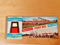 Vintage Fort Dix Postcard Booklet Army Training Camp NJ UnPosted Miniatures