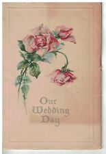 1922 Wedding book with names of bride & groom  and guest list